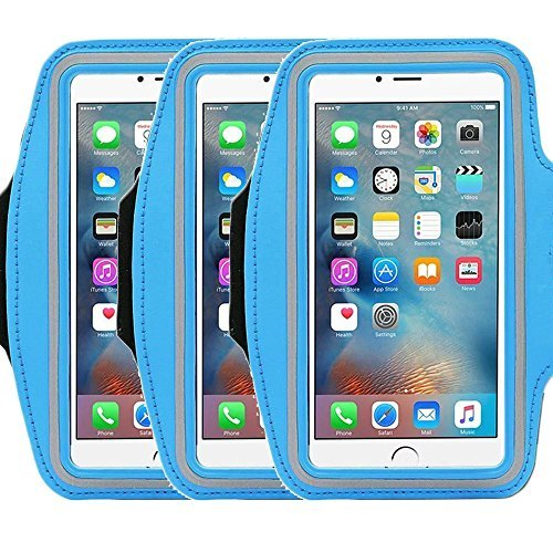 Universal Sports Armband for 5.7 Inch Screen Apple iPhone 6/6s iPhone 6/6s Plus Samsung Galaxy S7/S6/S5/S4 Sweatproof Running ArmBelt With Small Holder & Pouch for Keys Card (2e Id Card)