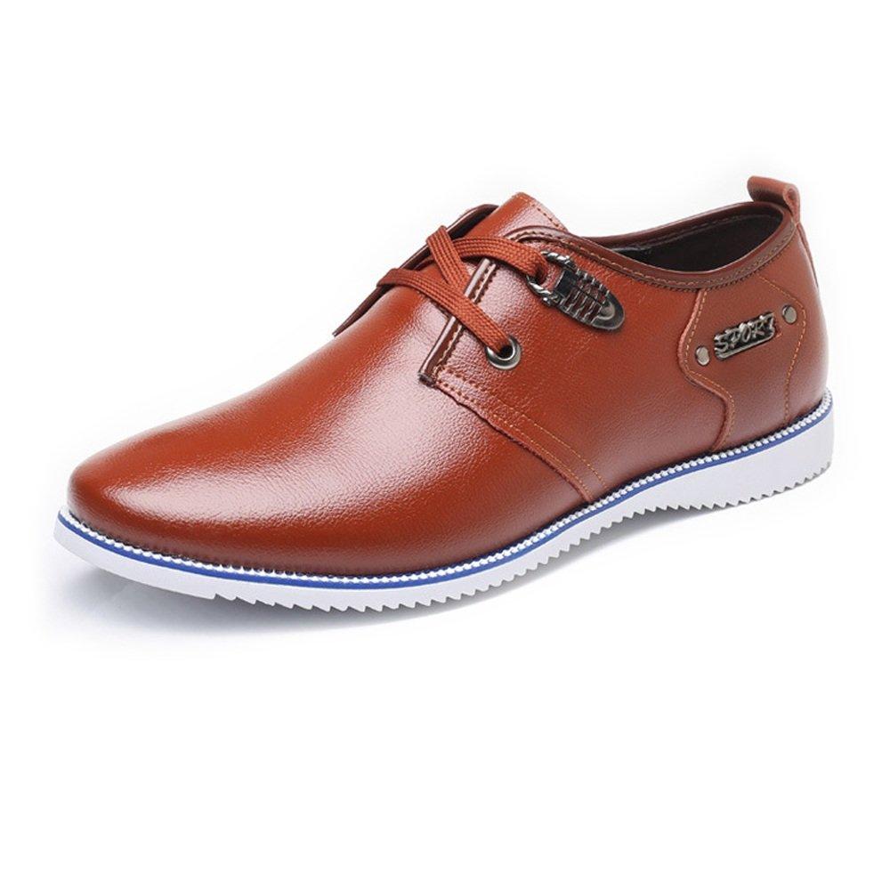 SCSY-Oxford-Schuhe Formale Geschäfts-Schuhe der einfachen Männer mattiert echtes Leder-Oberleder Oben Breathable gefütterte Oxfords  | Online Outlet Store