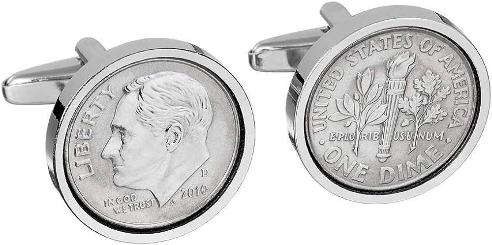 Worldcoincufflinks -10th Wedding Anniversary - Tin Anniversary - Genuine 2010 Mint Coin Cufflinks