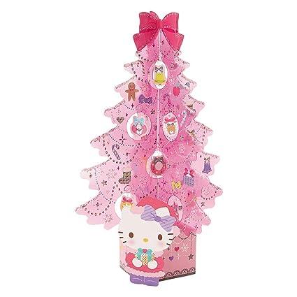 Hello Kitty Christmas Tree.Amazon Com Sanrio Greetings Hello Kitty 3d Miniature Pink