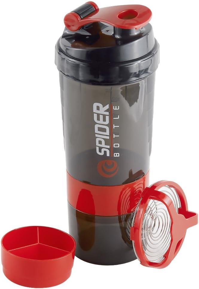 Stanbow Botella de Agua y Mezcladora, Botella Gimnasio Botella de coctelera suplementaria con compartimentos de almacenamiento de polvo de proteína