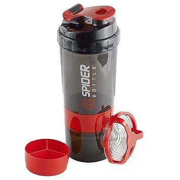 Stanbow Botella de Agua y Mezcladora, Botella Gimnasio Botella de coctelera suplementaria con compartimentos de almacenamiento de polvo de proteína: ...