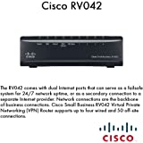 Cisco Small Business RV042 Dual WAN VPN Router - Router - 4-port switch - desktop CISCO RV042 4PT 10 100 VPN RTR DUAL WA