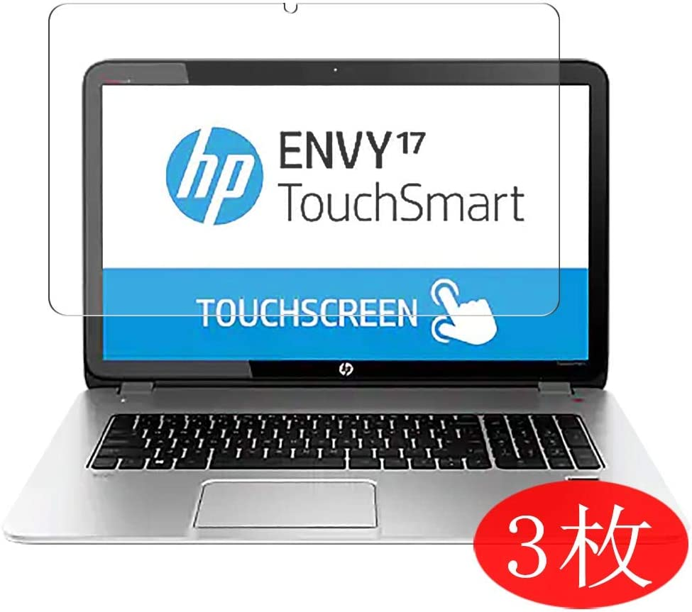 "【3 Pack】 Synvy Screen Protector for HP Envy TouchSmart 17-j000 / j017cl / j023cl / j043cl / j030us / j005ea / j037cl / j075sf / j098sf / j041nr 17.3"" Film Protectors [Not Tempered Glass]"