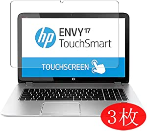"【3 Pack】 Synvy Screen Protector for HP Envy TouchSmart 17-j100 / j140us / j153cl / j130us / j178nr / j141nr / j182nr / j113tx / j178ca / j173cl / j185nr 17.3"" Film Protectors [Not Tempered Glass]"
