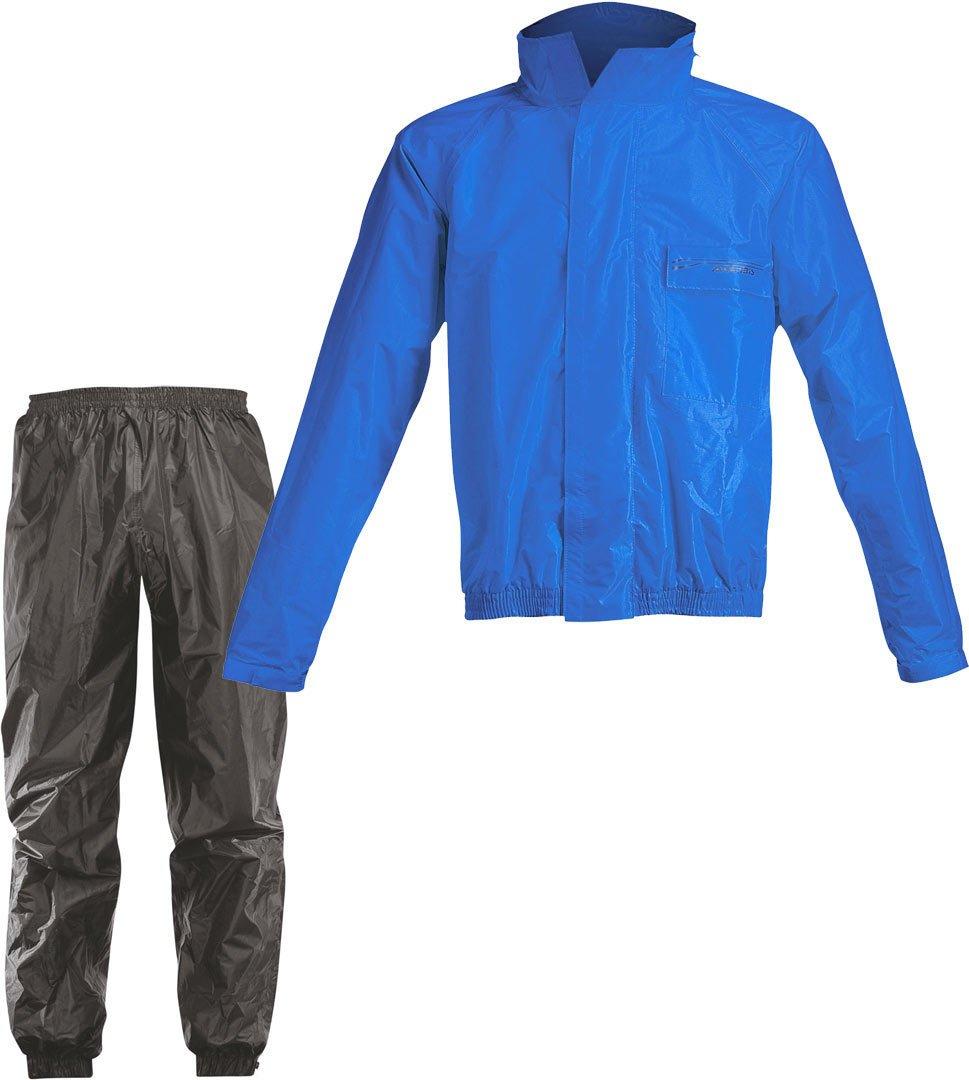 Acerbis Regen-Set Rain Suit Logo Blau Schwarz