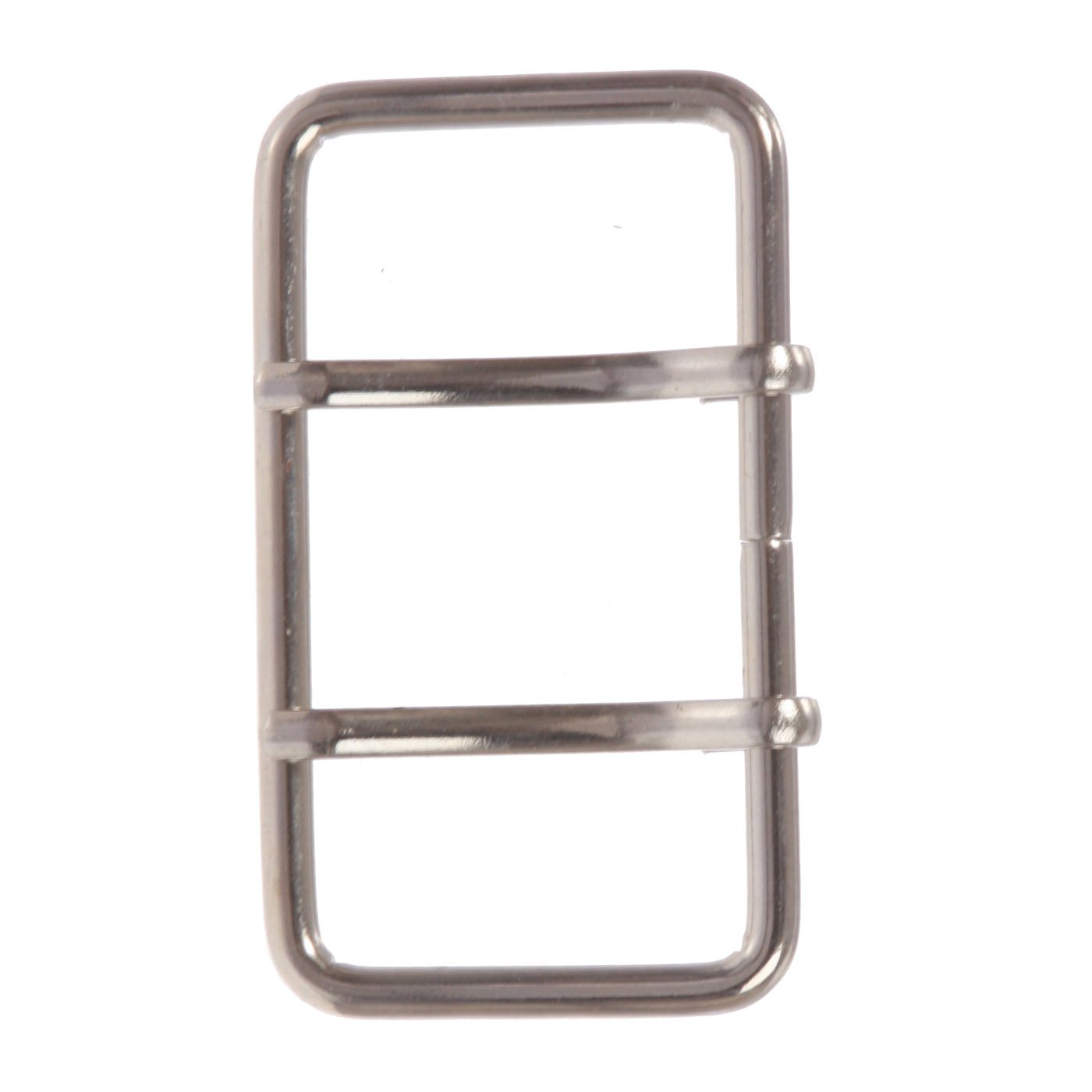 3 Double Prong Rectangle Belt Buckle for Replacement, Silver Beltiscool 500356-qcnf