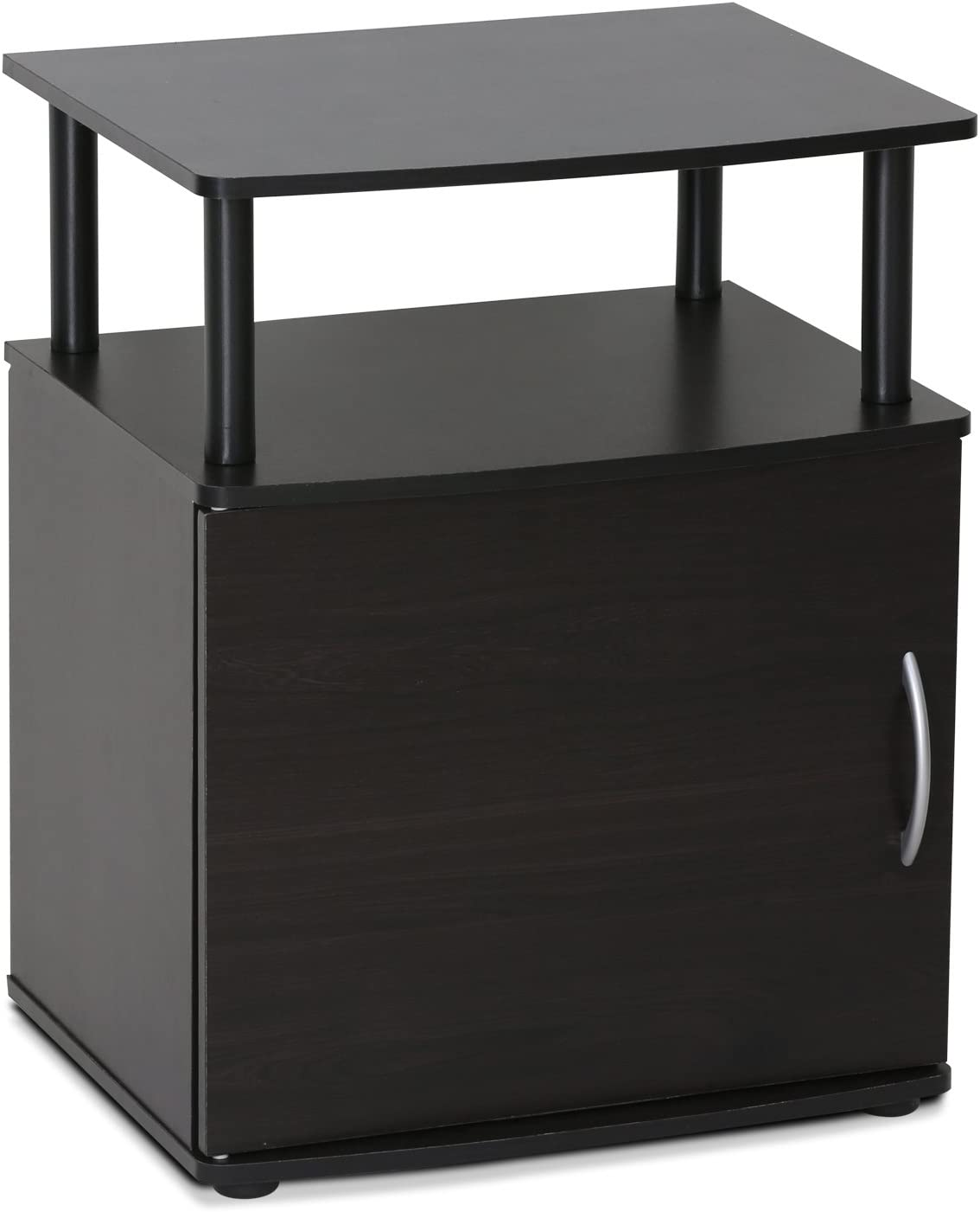 FURINNO Jaya End Table, One, Black Wood