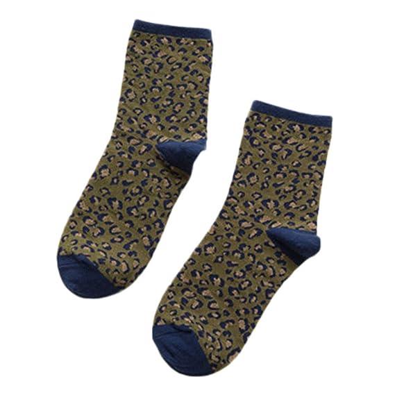 Rawdah_Calcetines Mujer Invierno Divertidos Termicos Algodon Las Mujeres De Invierno Caliente De Leopardo De Impresión Calcetines Casuales Calcetines De ...