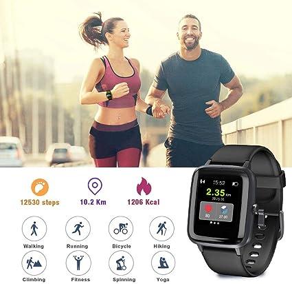 Reloj inteligente, Blackview Fitness Tracker con monitor de ritmo ...