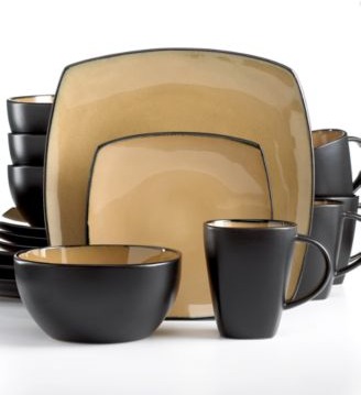 Signature Living Barcelona Taupe 16-Pc. Set, Service for 4 - Dinnerware - Dining & Entertaining - Macy's