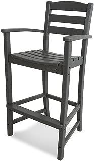 product image for POLYWOOD TD202GY La Casa Café Bar Arm Chair, Slate Grey