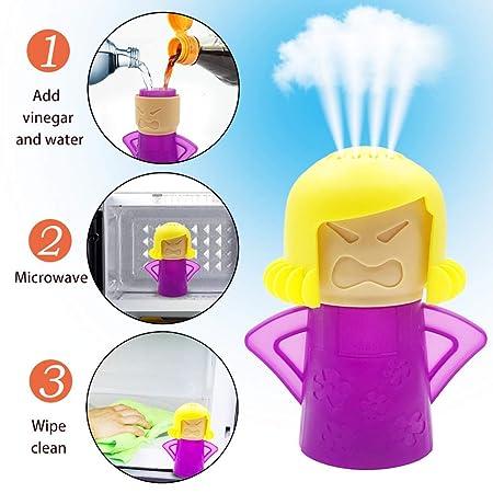 D.Roc Limpiador de microondas Angry Mama, Limpia fácilmente en ...
