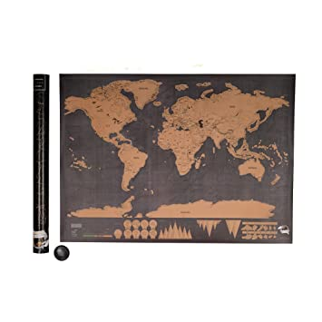 Kicode poster art map deluxe scratch travel log world map glow kicode poster art map deluxe scratch travel log world map glow home decoration decor gift 32x23 gumiabroncs Image collections