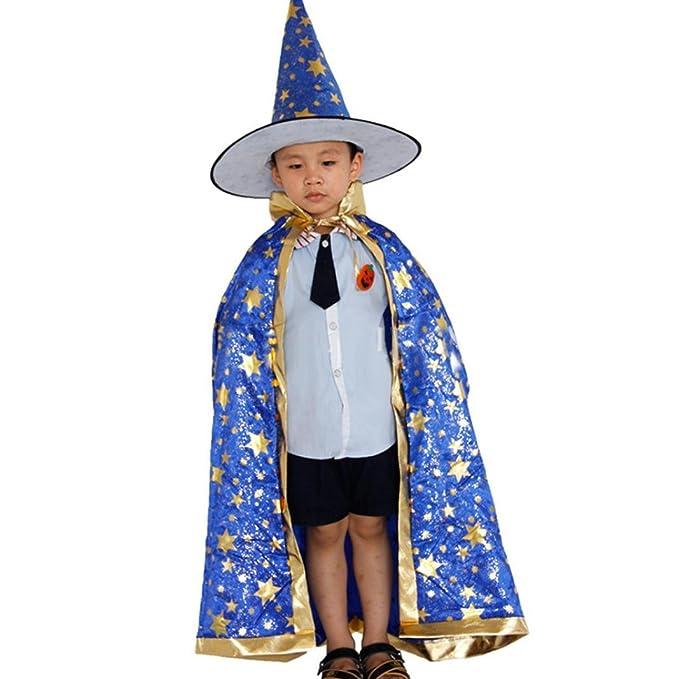 Sannysis Disfraz de Halloween Capa de Bruja Mago Capa de ...