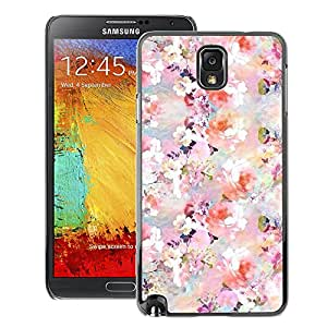 A-type Arte & diseño plástico duro Fundas Cover Cubre Hard Case Cover para Samsung Note 3 N9000 (Floral Pattern Flowers Spring White Pink)