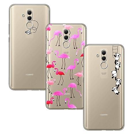 in vendita 8c56d 83165 Yoowei 3-Pack Cover per Huawei Mate 20 Lite Trasparente con Disegni,  Morbida TPU Silicone Ultra Sottile AntiGraffio Antiurti Custodia  Compatibile con ...