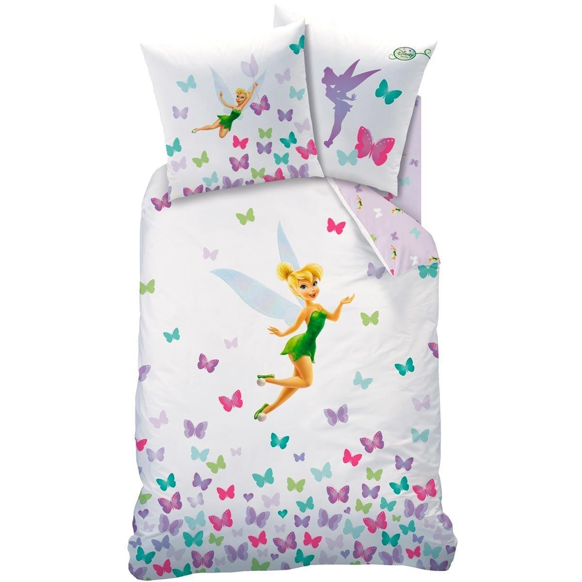 Disney Fairies–Tinker Bell–Bed Linen–100% Cotton Duvet Cover (140x 200cm) + Pillowcase (63 x 63 cm)–Fresh Chaunes Textile Industrie