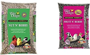 Wild Delight 366200 20-Pound Nut N-Berry Birdfood, 20 lb & Delight 365200 Fruit N' Berry Bird Food, 20 lb - Beige
