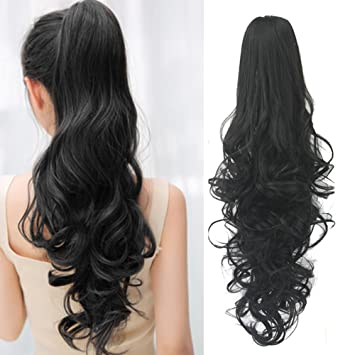 Ponytail Hair Extensions Clip in 24 Inch