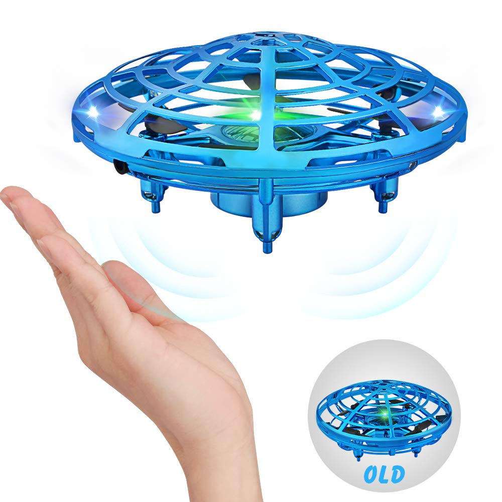 Growsland Hand Operated Drones Toys for Boys and Girls, Infrared Induction Flying Helicopter Ball Drone with LED Light UFO Toys Gifts for Indoor and Outdoor by Growsland