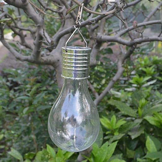 Bombilla de luz solar a prueba de agua Jardín giratorio que acampa al aire libre Colgante Iluminación de 5 LED Bombilla de lámpara solar ecológica ToGames-ES: Amazon.es: Iluminación