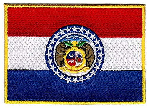 "Missouri Sew On Flag Patch / ""Show Me State"" Tactical Iron On Patch (US State MO, 2.5"" x 3.5"")"