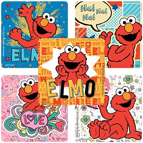 Elmo Stickers - Prizes 100 Per Pack