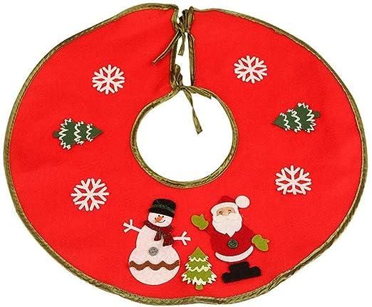 djryj Asombroso 1PC Rojo Blanco Árbol de Navidad Falda Papá Noel ...