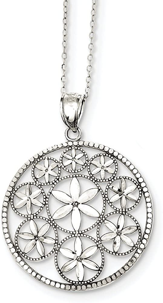 JOlivers Sterling Silver Polished /& D//C Pendant