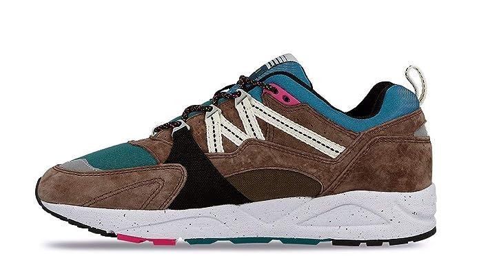 Zapatilla Karhu Fusion 2.0 marrón y Verde Azulado de Suede y Nylon: Amazon.es: Zapatos y complementos