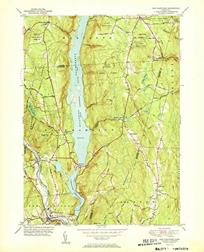 Hartford Connecticut Map - Connecticut Maps | 1951 New Hartford, CT USGS Historical Topographic Map | Cartography Wall Art | 44in x 55in