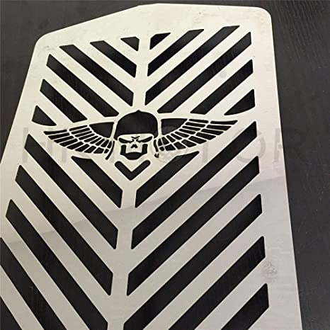 Skull Wing Radiator Grille Guard Cover Protector For Yamaha XVZ13 Royal Star A