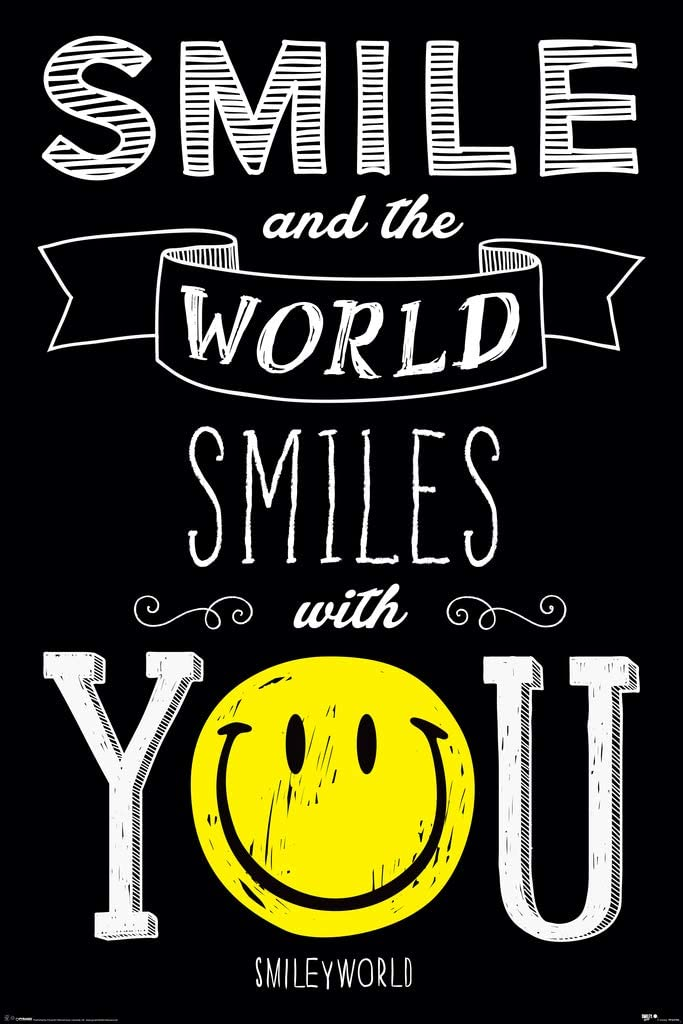 Pyramid America Smile And The World Smiles With You Cool Wall Decor Art Print Poster 24x36 Posters Prints