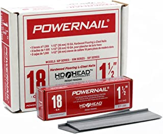 "product image for Powernail 18ga 1-1/2"" L-Style PowerCleats(Case of 5-1000ct boxes)"