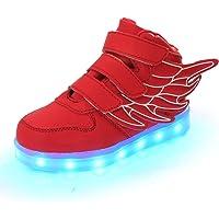 DoGeek Zapatos Led Niños Niñas 7 Color USB