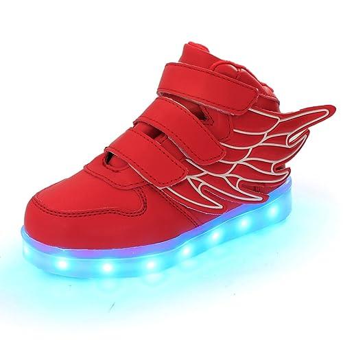 Usb Dogeek Deportivas Niñas Color Luces Zapatos Led De Niños 7 Carga qqWY61Z