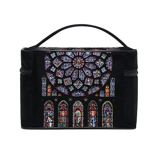 8acd659d1b0b Amazon.com : Exquisite Church Skylight Makeup Bags Travel Cosmetic ...