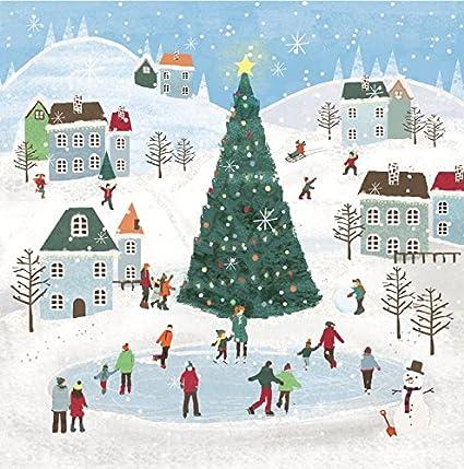 Pack of 8 Ice Skating British Heart Foundation Charity Christmas Cards Xmas Card: Amazon.es: Oficina y papelería