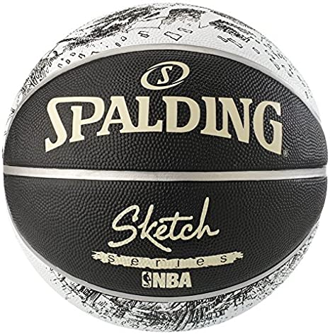 Spalding NBA Sketch Swoosh out Sz. 7 (83-534Z) Balón de Baloncesto ...