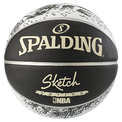 Spalding NBA Sketch Swoosh Out SZ. 7 (83-534 Weiss/Fluo rot/Marine