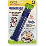 Chewbrush Toothbrush by BulbHead - Dog Toothbrush and Dog Toy - No Dog Toothpaste Required - Great Dog Teeth Cleaning Toys (1 Pack)