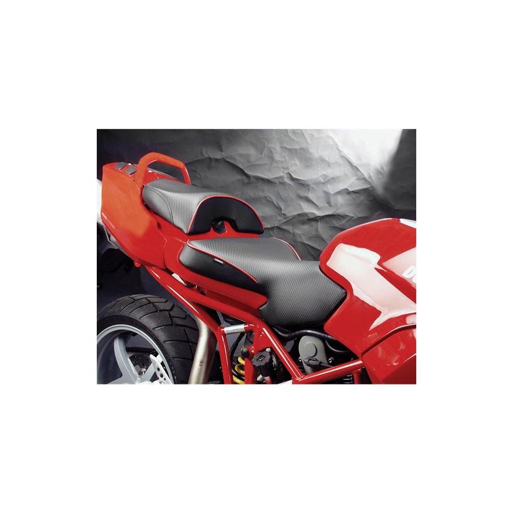 Sargent World Sport Perf Seat Blk W/Blk Accent for Ducati Multistrada 1000 03-09