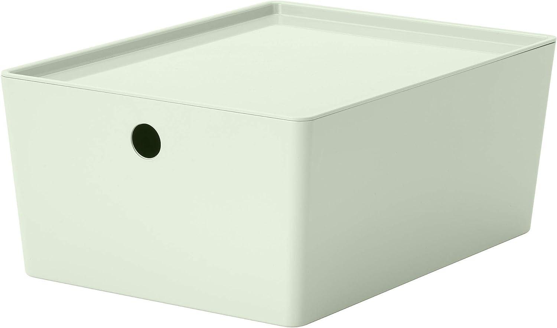 IKEA.. 404.083.42 Kuggis - Caja de Almacenamiento con Tapa, Color Verde Claro: Amazon.es: Hogar