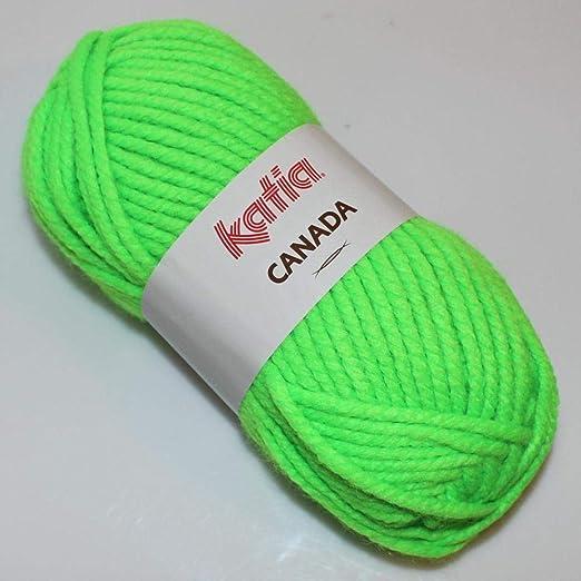 Lanas Katia Canada Ovillo de Color Fluor Cod. 32: Amazon.es: Hogar