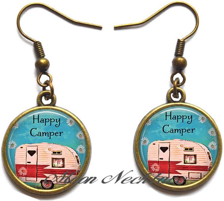 Camping Stud Earrings