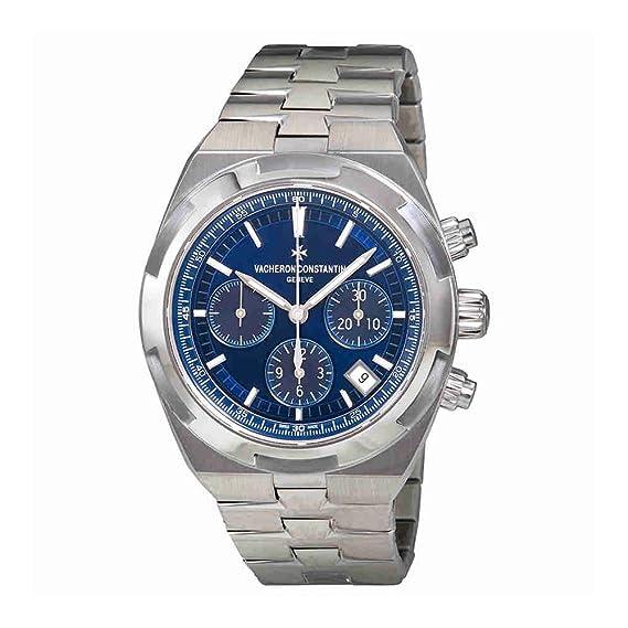 Vacheron Constantin En el Extranjero azul Dial Automático Hombres Reloj cronógrafo para hombre