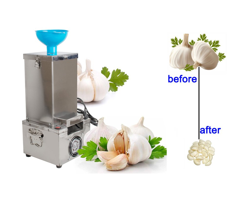 zinnor Garlic Peeling Machine, Commercial Electric Stainless Steel Garlic Peeler Machine,180W 44lb/hour Garlic Peeling Stripper Machine for Home & Restaurant (Shipping From USA & 3-5days) by Zinnor
