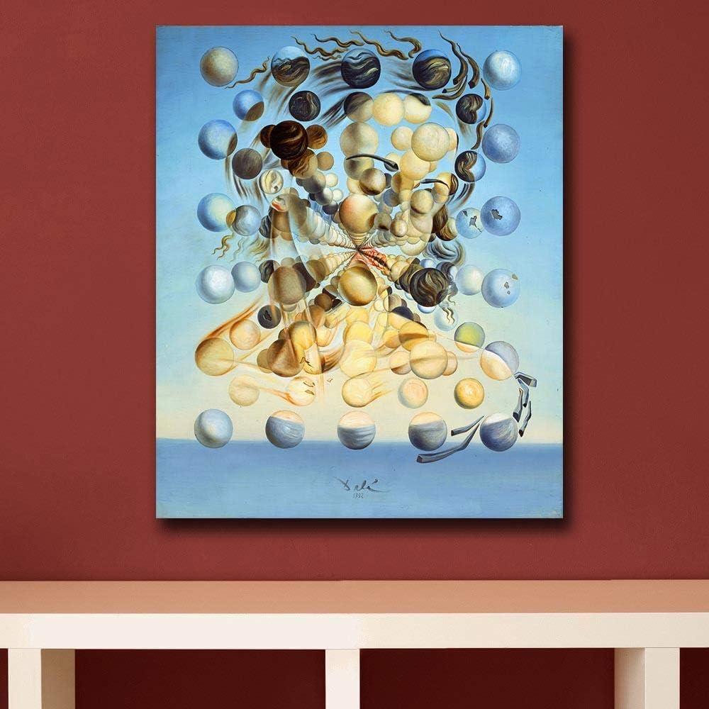 GYJZZW Decoraci Escultura Estatua Artesan Salvador Dali Pictorial Art Canvas Painting Cuadro De Pared para Sala De Estar Decoración Moderna del Hogar Pintura Al Óleo sobre Lienzo Sin Marco, 28X34