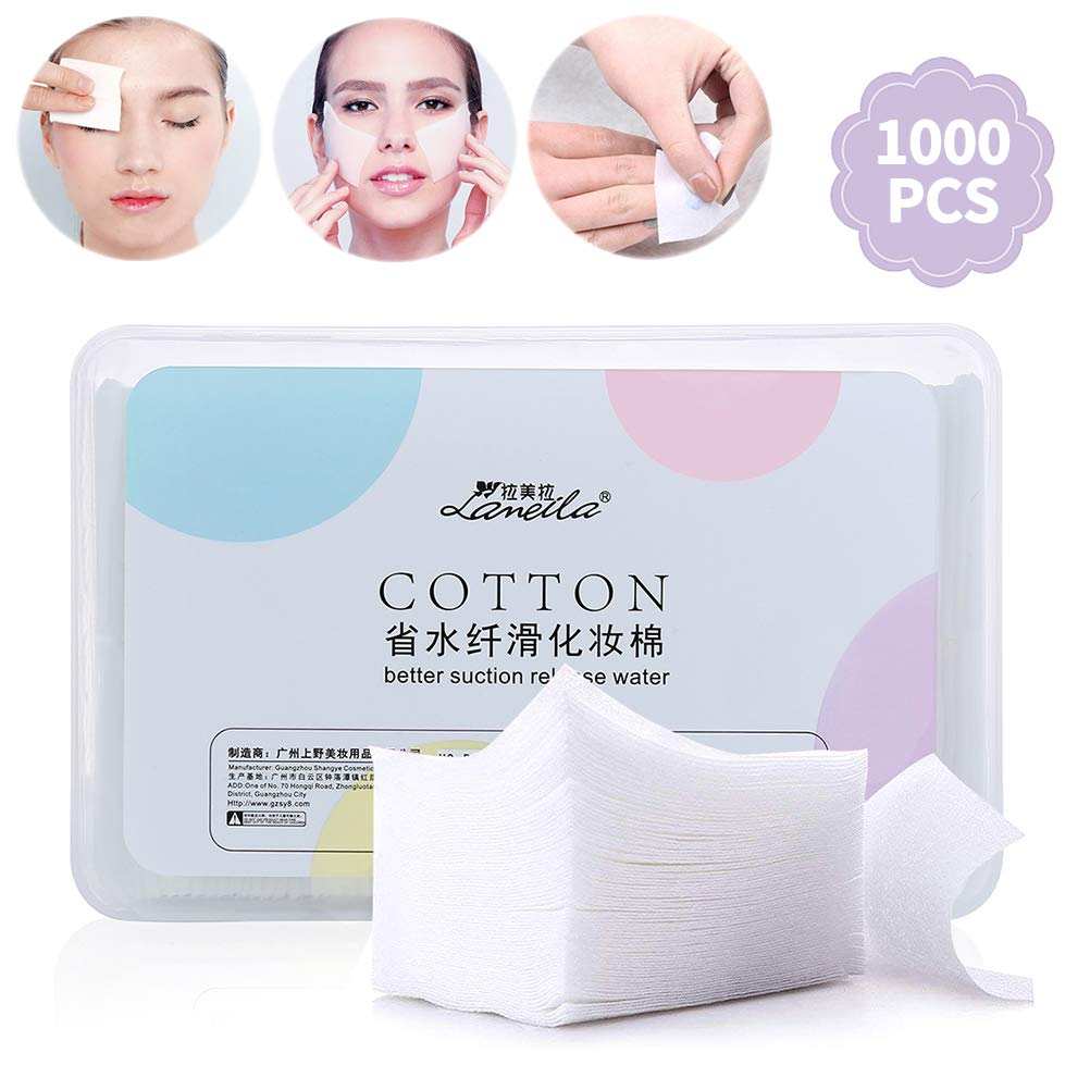 1000pcs Makeup Remover cottton Pads| Facial Eye Nail Make Up Wipes| Square Cosmetic Cotton Pads| Ultra Absorbent Cotton Pads, Lint-Free| For Daily Cosmetic, Beauty, And Personal Skin Care